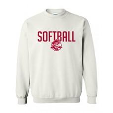 Park SOFTBALL Crewneck Sweatshirt (White)
