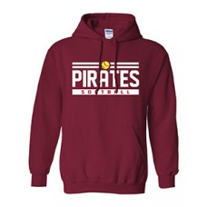 Park PIRATES Hoodie Sweatshirt (Cardinal Red)