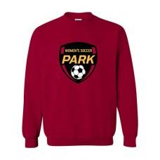 Park 2021 Soccer Crewneck EMBLEM Sweatshirt (Cardinal Red)