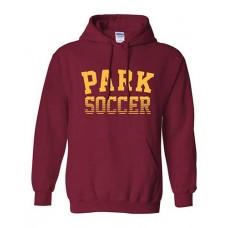 Park 2021 Soccer Hoodie PARK Sweatshirt (Cardinal Red)