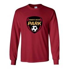 Park 2021 Soccer Long Sleeved EMBLEM T-shirt (Cardinal Red)