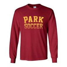 Park 2021 Soccer Long Sleeved PARK T-shirt (Cardinal Red)