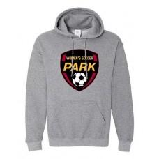 Park 2021 Soccer Hoodie EMBLEM Sweatshirt (Graphite Heather)